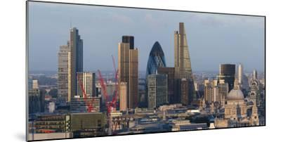 Vew of the City of London from the Top of Centre Point Tower, London, England-Alex Treadway-Mounted Photographic Print