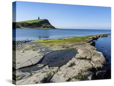 Rock Ledges and Clavell Tower in Kimmeridge Bay, Isle of Purbeck, Jurassic Coast-Roy Rainford-Stretched Canvas Print