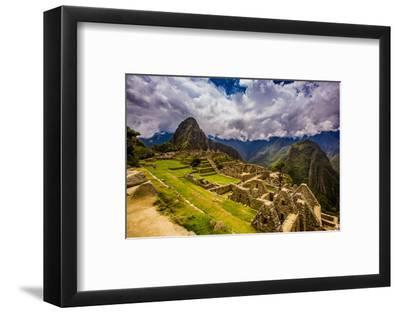 Machu Picchu Incan Ruins, UNESCO World Heritage Site, Sacred Valley, Peru, South America-Laura Grier-Framed Photographic Print