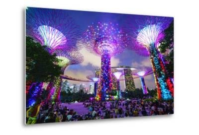 Supertree Grove in the Gardens by the Bay, a Futuristic Botanical Gardens and Park-Fraser Hall-Metal Print