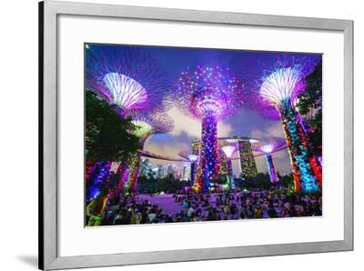 Supertree Grove in the Gardens by the Bay, a Futuristic Botanical Gardens and Park-Fraser Hall-Framed Photographic Print