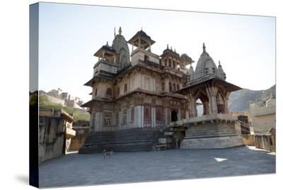 The Jagat Shiromani Hindu Temple, Dedicated to Shiva, Krishna and Meera Bhai-Annie Owen-Stretched Canvas Print