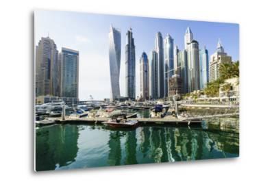 Dubai Marina, Dubai, United Arab Emirates, Middle East-Fraser Hall-Metal Print