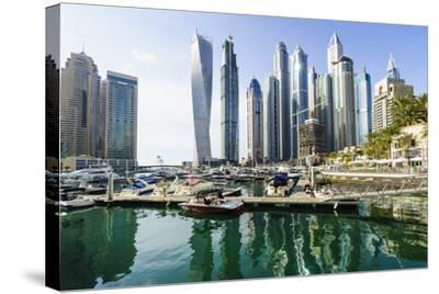 Dubai Marina, Dubai, United Arab Emirates, Middle East-Fraser Hall-Stretched Canvas Print