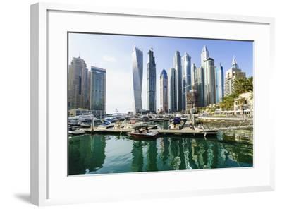 Dubai Marina, Dubai, United Arab Emirates, Middle East-Fraser Hall-Framed Photographic Print