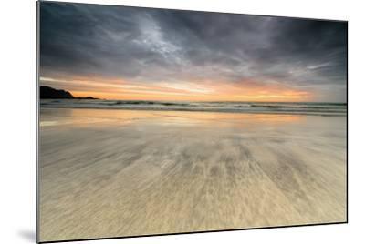 The Midnight Sun Reflected on the Sandy Beach of Skagsanden, Ramberg, Nordland County-Roberto Moiola-Mounted Photographic Print