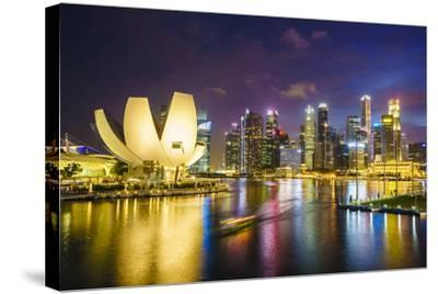 The Lotus Flower Shaped Artscience Museum Overlooking Marina Bay-Fraser Hall-Stretched Canvas Print
