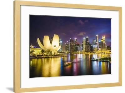 The Lotus Flower Shaped Artscience Museum Overlooking Marina Bay-Fraser Hall-Framed Photographic Print