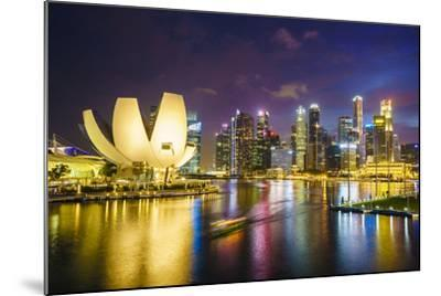 The Lotus Flower Shaped Artscience Museum Overlooking Marina Bay-Fraser Hall-Mounted Photographic Print