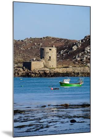 Fishing Boat, Cromwell's Castle on Tresco, Isles of Scilly, England, United Kingdom, Europe-Robert Harding-Mounted Photographic Print