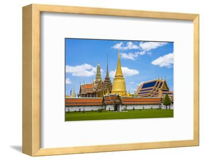 Spires and Stupas of Temple of the Emerald Buddha (Wat Phra Kaew), Grand Palace Complex, Bangkok-Jason Langley-Framed Photographic Print