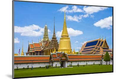 Spires and Stupas of Temple of the Emerald Buddha (Wat Phra Kaew), Grand Palace Complex, Bangkok-Jason Langley-Mounted Photographic Print