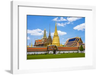Spires and Stupas of Temple of the Emerald Buddha (Wat Phra Kaew), Grand Palace Complex, Bangkok-Jason Langley-Framed Photographic Print