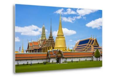 Spires and Stupas of Temple of the Emerald Buddha (Wat Phra Kaew), Grand Palace Complex, Bangkok-Jason Langley-Metal Print