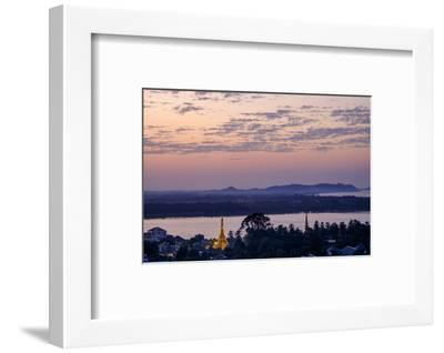 River Salouen (Thanlwin) from View Point, Mawlamyine (Moulmein), Myanmar (Burma), Asia-Nathalie Cuvelier-Framed Photographic Print