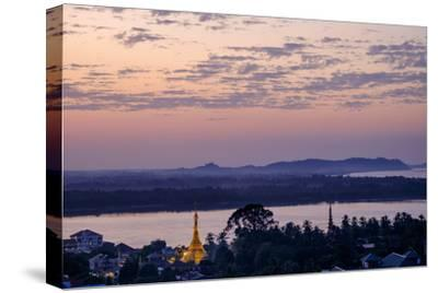 River Salouen (Thanlwin) from View Point, Mawlamyine (Moulmein), Myanmar (Burma), Asia-Nathalie Cuvelier-Stretched Canvas Print