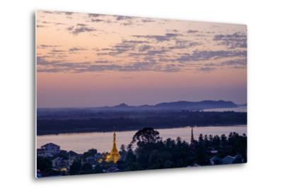 River Salouen (Thanlwin) from View Point, Mawlamyine (Moulmein), Myanmar (Burma), Asia-Nathalie Cuvelier-Metal Print
