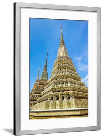 Stupas at Wat Pho (Temple of the Reclining Buddha), Bangkok, Thailand, Southeast Asia, Asia-Jason Langley-Framed Photographic Print