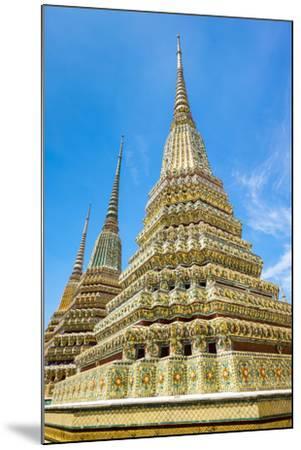 Stupas at Wat Pho (Temple of the Reclining Buddha), Bangkok, Thailand, Southeast Asia, Asia-Jason Langley-Mounted Photographic Print