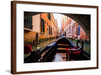 Floating on a Gondola, Venice, UNESCO World Heritage Site, Veneto, Italy, Europe-Laura Grier-Framed Photographic Print