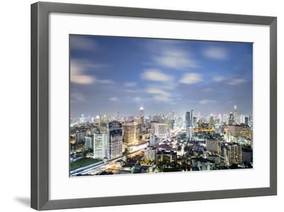 City Skyline at Night, Bangkok, Thailand, Southeast Asia, Asia-Alex Robinson-Framed Photographic Print
