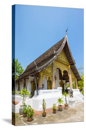 Wat Choumkhong Buddhist Temple, Luang Prabang, Louangphabang Province, Laos, Indochina-Jason Langley-Stretched Canvas Print