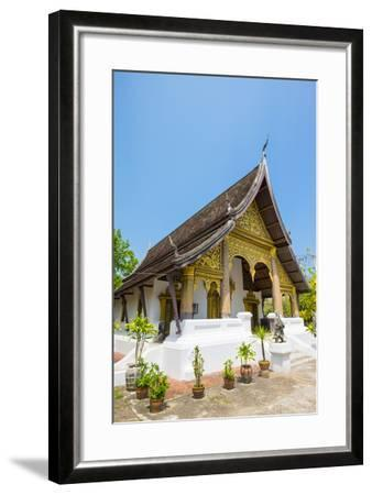 Wat Choumkhong Buddhist Temple, Luang Prabang, Louangphabang Province, Laos, Indochina-Jason Langley-Framed Photographic Print