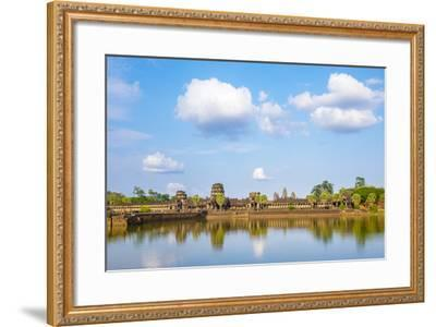 Angkor Wat, UNESCO World Heritage Site, Siem Reap Province, Cambodia, Indochina-Jason Langley-Framed Photographic Print