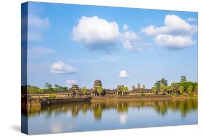 Angkor Wat, UNESCO World Heritage Site, Siem Reap Province, Cambodia, Indochina-Jason Langley-Stretched Canvas Print
