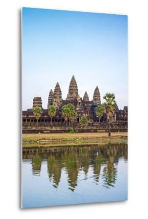 Angkor Wat, UNESCO World Heritage Site, Siem Reap Province, Cambodia, Indochina-Jason Langley-Metal Print