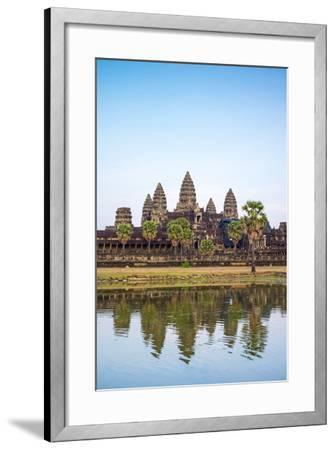 Angkor Wat, UNESCO World Heritage Site, Siem Reap Province, Cambodia, Indochina-Jason Langley-Framed Photographic Print