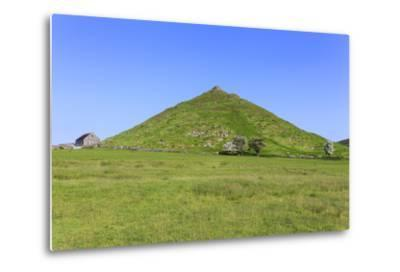 Thorpe Cloud, a Conical Hill with Hawthorns in Blossom and Barn, Dovedale-Eleanor Scriven-Metal Print