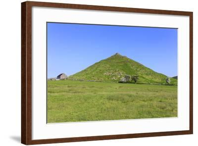 Thorpe Cloud, a Conical Hill with Hawthorns in Blossom and Barn, Dovedale-Eleanor Scriven-Framed Photographic Print