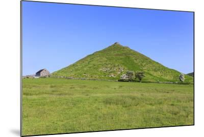 Thorpe Cloud, a Conical Hill with Hawthorns in Blossom and Barn, Dovedale-Eleanor Scriven-Mounted Photographic Print