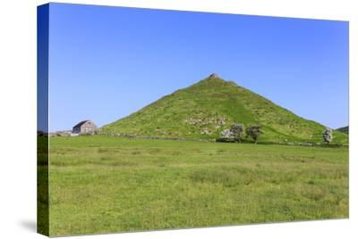 Thorpe Cloud, a Conical Hill with Hawthorns in Blossom and Barn, Dovedale-Eleanor Scriven-Stretched Canvas Print