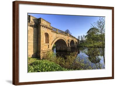 Sandstone Bridge by Paine over River Derwent on a Spring Morning, Chatsworth Estate-Eleanor Scriven-Framed Photographic Print