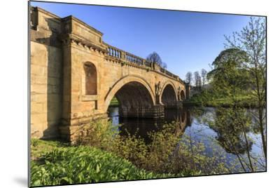 Sandstone Bridge by Paine over River Derwent on a Spring Morning, Chatsworth Estate-Eleanor Scriven-Mounted Photographic Print
