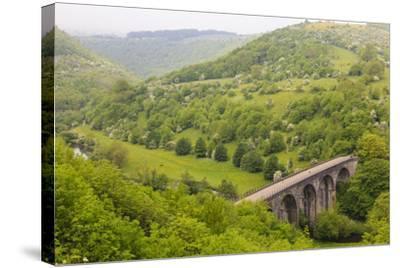 Monsal Trail Viaduct, Monsal Head, Monsal Dale, Former Rail Line, Trees in Full Leaf in Summer-Eleanor Scriven-Stretched Canvas Print