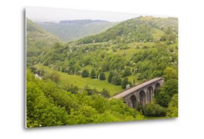 Monsal Trail Viaduct, Monsal Head, Monsal Dale, Former Rail Line, Trees in Full Leaf in Summer-Eleanor Scriven-Metal Print