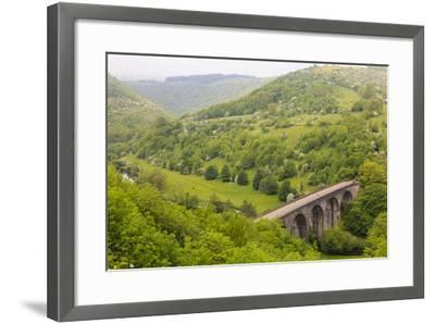 Monsal Trail Viaduct, Monsal Head, Monsal Dale, Former Rail Line, Trees in Full Leaf in Summer-Eleanor Scriven-Framed Photographic Print