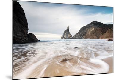 Ocean Waves Crashing on the Sandy Beach of Praia Da Ursa Surrounded by Cliffs, Cabo Da Roca-Roberto Moiola-Mounted Photographic Print