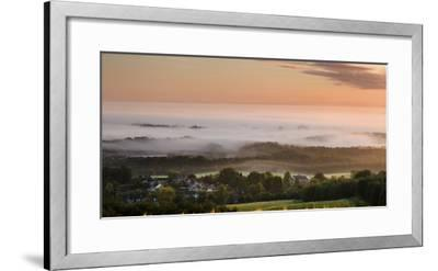 Looking over Delamere Village from Eddisbury Hill on an Autumn Morning-Garry Ridsdale-Framed Photographic Print