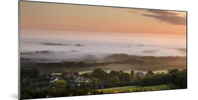 Looking over Delamere Village from Eddisbury Hill on an Autumn Morning-Garry Ridsdale-Mounted Photographic Print