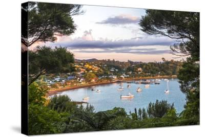 Russell at Sunset, Bay of Islands, Northland Region, North Island, New Zealand, Pacific-Matthew Williams-Ellis-Stretched Canvas Print