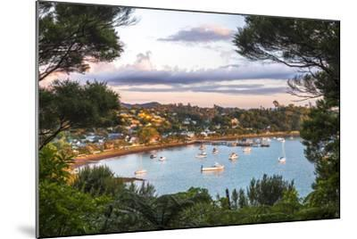 Russell at Sunset, Bay of Islands, Northland Region, North Island, New Zealand, Pacific-Matthew Williams-Ellis-Mounted Photographic Print