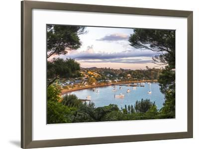 Russell at Sunset, Bay of Islands, Northland Region, North Island, New Zealand, Pacific-Matthew Williams-Ellis-Framed Photographic Print