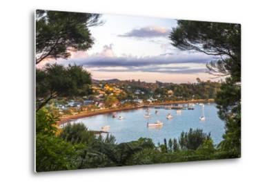 Russell at Sunset, Bay of Islands, Northland Region, North Island, New Zealand, Pacific-Matthew Williams-Ellis-Metal Print