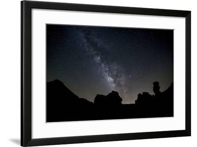 The Milky Way Arches High in the Night Sky Above Roques De Garcia in Teide National Park-Garry Ridsdale-Framed Photographic Print
