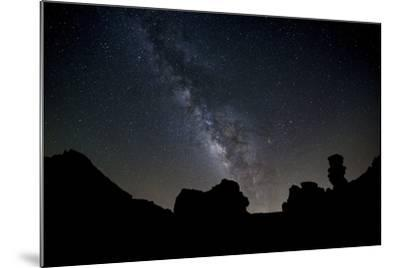 The Milky Way Arches High in the Night Sky Above Roques De Garcia in Teide National Park-Garry Ridsdale-Mounted Photographic Print