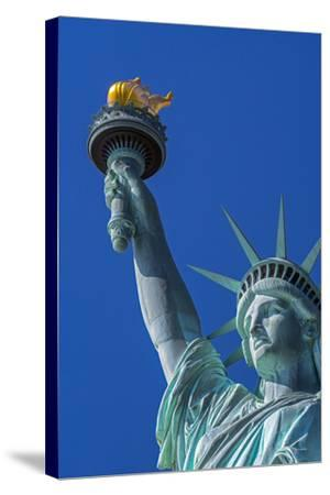 Statue of Liberty, Liberty Island, Manhattan, New York, United States of America, North America-Alan Copson-Stretched Canvas Print